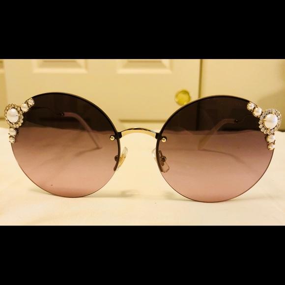 ffc49d166224 Trade Miu Miu SMU 52T SMU52T Gold Round Sunglasses.  M 5b64f81e2aa96a8b5f1c746a. Other Accessories ...
